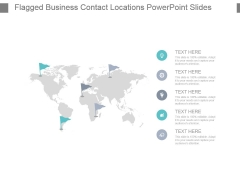 Flagged Business Contact Locations Powerpoint Slides