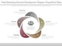 Fleet Marketing Channel Development Diagram Powerpoint Slide