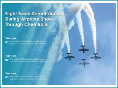 Flight Track Demonstration During Airplane Show Through Chemtrails Ppt PowerPoint Presentation Gallery Display PDF