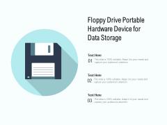 Floppy Drive Portable Hardware Device For Data Storage Ppt PowerPoint Presentation Portfolio Background Images