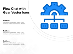 Flow Chat With Gear Vector Icon Ppt PowerPoint Presentation Inspiration Smartart