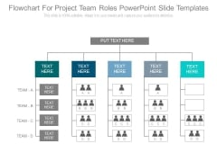 Flowchart For Project Team Roles Powerpoint Slide Templates