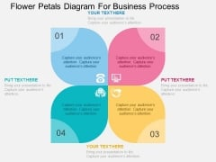 Flower Petals Diagram For Business Process Powerpoint Templates