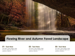 Flowing River And Autumn Forest Landscape Ppt PowerPoint Presentation Infographic Template Slide Download PDF