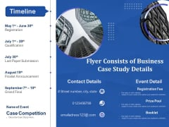 Flyer Consists Of Business Case Study Details Ppt PowerPoint Presentation File Portfolio PDF