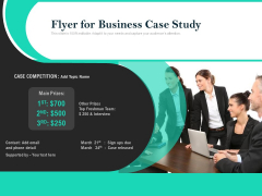 Flyer For Business Case Study Ppt PowerPoint Presentation Gallery Guide PDF
