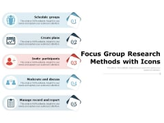 Focus Group Research Methods With Icons Ppt PowerPoint Presentation Icon Information PDF