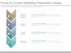 Focus On Content Marketing Presentation Design
