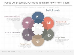 Focus On Successful Outcome Template Powerpoint Slides