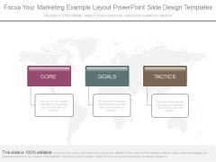 Focus Your Marketing Example Layout Powerpoint Slide Design Templates