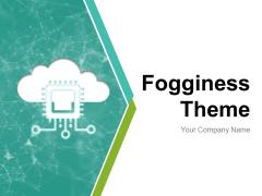 Fogginess Theme Arrow Inside Cloud Analytics Gear Icon Ppt PowerPoint Presentation Complete Deck