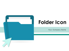 Folder Icon Project Magnifying Glass Ppt PowerPoint Presentation Complete Deck