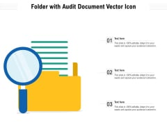 Folder With Audit Document Vector Icon Ppt PowerPoint Presentation Pictures Inspiration PDF