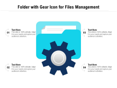 Folder With Gear Icon For Files Management Ppt PowerPoint Presentation Gallery Summary PDF