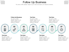 Follow Up Business Ppt PowerPoint Presentation Icon Guidelines Cpb Pdf