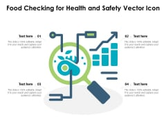 Food Checking For Health And Safety Vector Icon Ppt PowerPoint Presentation Slides Show PDF