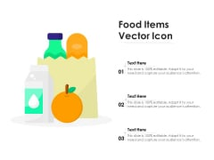 Food Items Vector Icon Ppt PowerPoint Presentation File Model PDF