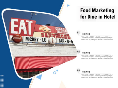 Food Marketing For Dine In Hotel Ppt PowerPoint Presentation Gallery Shapes PDF