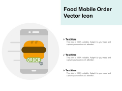 Food Mobile Order Vector Icon Ppt PowerPoint Presentation Infographics Themes