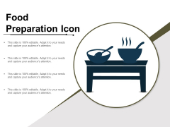 Food Preparation Icon Ppt PowerPoint Presentation Model Outline