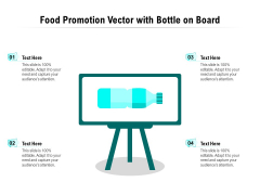 Food Promotion Vector With Bottle On Board Ppt PowerPoint Presentation Gallery Topics PDF