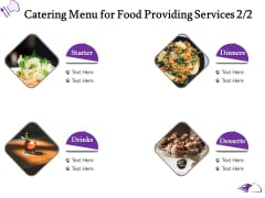 Food Providing Services Catering Menu For Food Providing Services Desserts Ppt PowerPoint Presentation Outline Infographics PDF