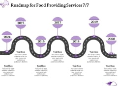 Food Providing Services Catering Menu For Food Providing Services Roadmap For Food Providing Services 2014 To 2020 Themes PDF