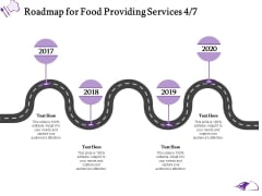 Food Providing Services Catering Menu For Food Providing Services Roadmap For Food Providing Services 2017 To 2020 Portrait PDF