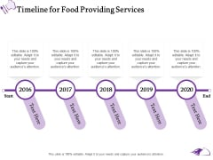 Food Providing Services Catering Menu For Food Providing Services Timeline For Food Providing Services Pictures PDF