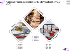 Food Providing Services Catering Theme Inspiration For Food Providing Services Ppt PowerPoint Presentation Model File Formats PDF