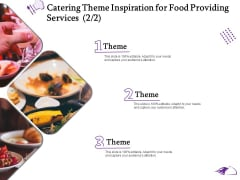Food Providing Services Catering Theme Inspiration For Food Providing Services Theme Formats PDF