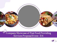 Food Providing Services Company Showcase Of Past Food Providing Services Proposal Event Management Summary PDF