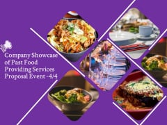 Food Providing Services Company Showcase Of Past Food Providing Services Proposal Event Marketing Diagrams PDF