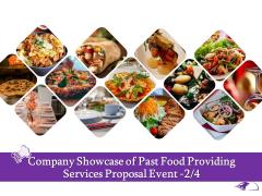 Food Providing Services Company Showcase Of Past Food Providing Services Proposal Event Themes PDF
