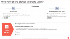 Food Receipt And Storage To Ensure Quality Assuring Food Quality And Hygiene Template PDF