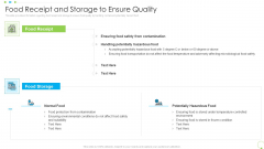 Food Receipt And Storage To Ensure Quality Uplift Food Production Company Quality Standards Introduction PDF