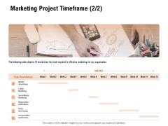 For Launching Company Site Marketing Project Timeframe Ppt PowerPoint Presentation Layouts Background Designs PDF
