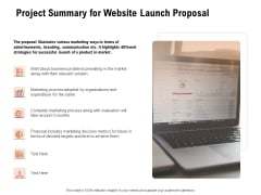 For Launching Company Site Project Summary For Website Launch Proposal Rules PDF