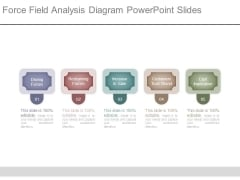 Force Field Analysis Diagram Powerpoint Slides