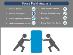 Force Field Analysis Template 1 Ppt PowerPoint Presentation Pictures