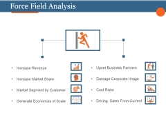 Force Field Analysis Template 2 Ppt PowerPoint Presentation Deck