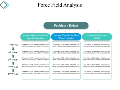 Force Field Analysis Template 2 Ppt PowerPoint Presentation Visual Aids