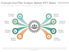 Forecast And Plan Analyze Market Ppt Slides