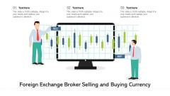 Foreign Exchange Broker Selling And Buying Currency Ppt PowerPoint Presentation File Background Image PDF