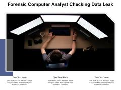 Forensic Computer Analyst Checking Data Leak Ppt PowerPoint Presentation Gallery Smartart PDF