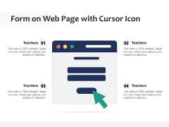 Form On Web Page With Cursor Icon Ppt PowerPoint Presentation Pictures Grid PDF