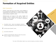 Formation Of Acquired Entities Assets Ppt PowerPoint Presentation Infographics Mockup