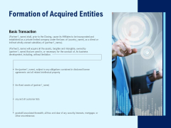 Formation Of Acquired Entities Ppt PowerPoint Presentation Gallery Example File