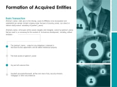 Formation Of Acquired Entities Ppt Powerpoint Presentation Show Examples
