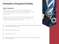 Formation Of Acquired Entities Ppt PowerPoint Presentation Styles Good